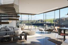 Luxury living space CGI