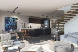 CGI luxury kitchen diner image