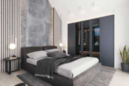 CGI interior of a luxury bedroom